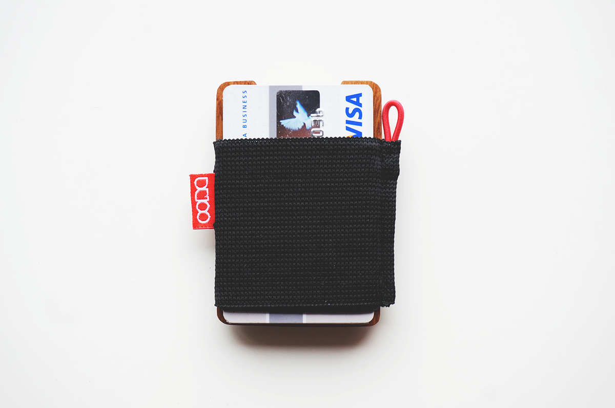 Oona wooden wallet credit card holder on behance cards a few business cards some cash a few coins one or two keys and a memory card making it perfect for every day use and long nights out alike reheart Choice Image