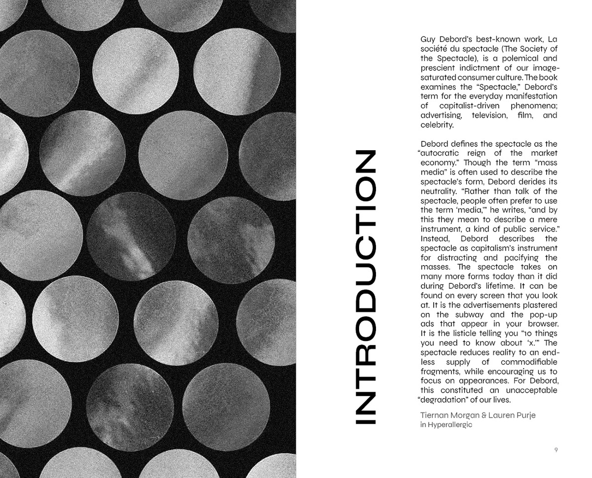 book cover book design collage editorial editorial design  philosophy  Society of the Spectacle