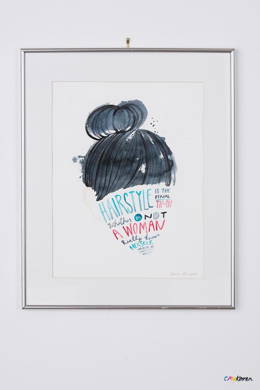 Adobe Portfolio watercolor hair hairstyles salon watercolour teased hairspray bangs