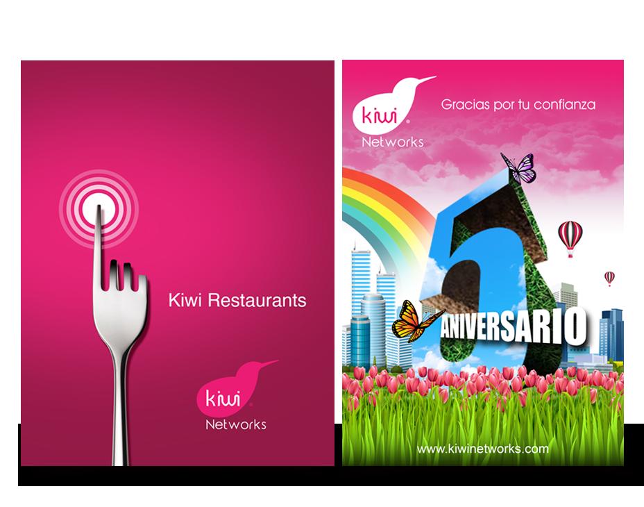 Kiwi Networks diseño gráfico Diseño editorial publicidad Diseño Interiores