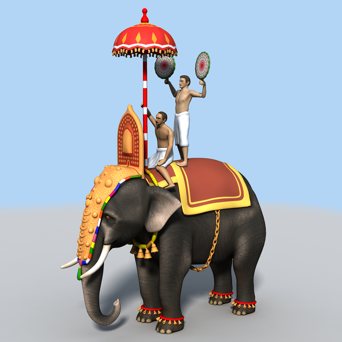 Caparisoned Kerala Elephant 3d Model And Texture On Behance Three species are recognised, the african bush elephant (loxodonta africana), the african forest elephant (l. caparisoned kerala elephant 3d model