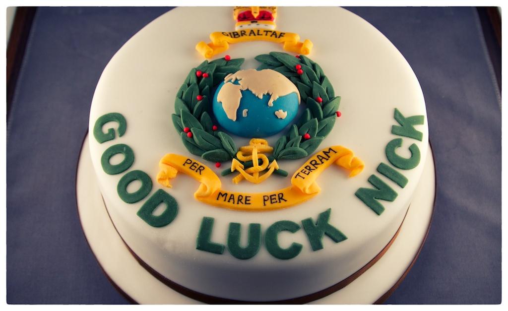 Andrea Hillman Royal Marines Good Luck Cake