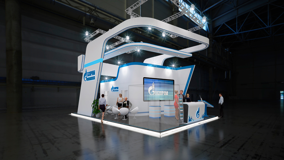 Exhibition Stand Design 3d Max : Gazprom exhibition stand d max on behance