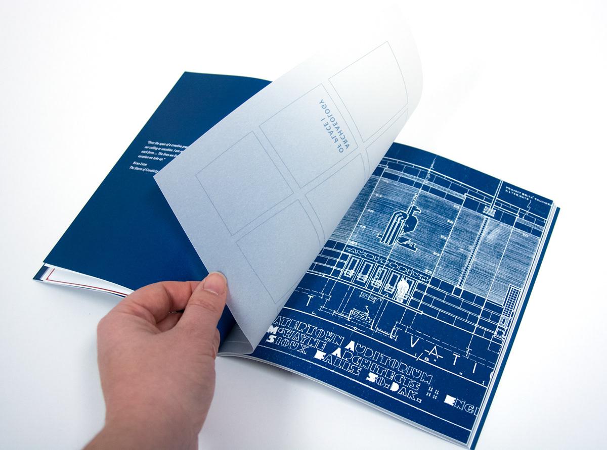 book design MFA Thesis print design  archaeology type design collage