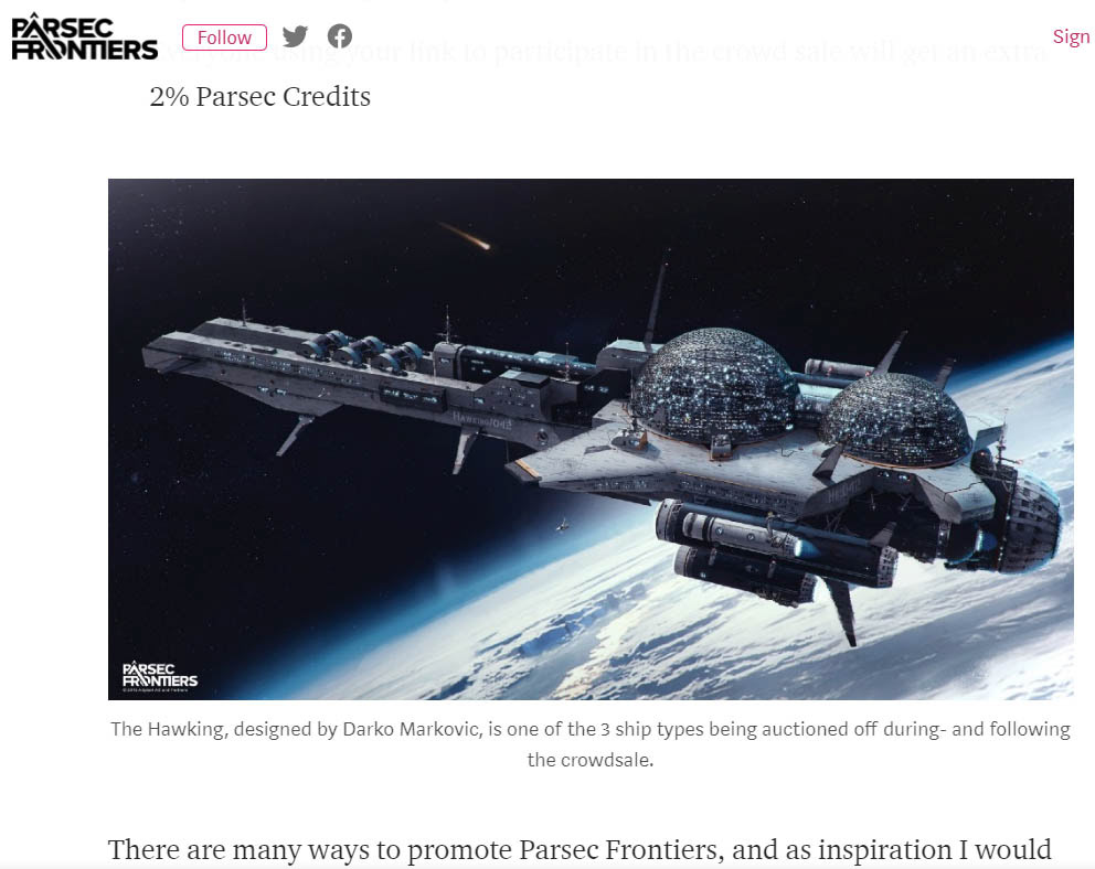 PARSEC FRONTIERS- THE HAWKING on Behance