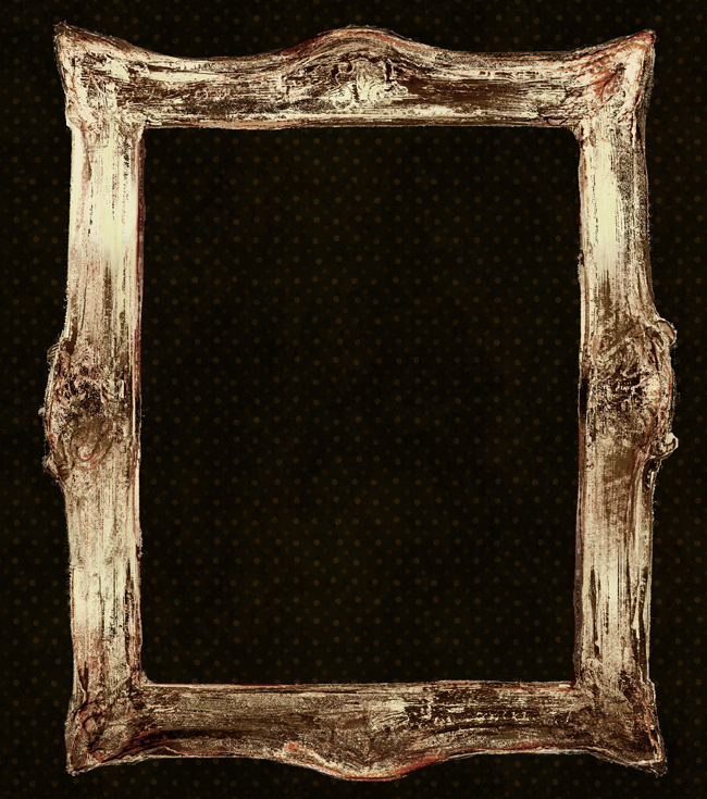 Gold frame painting frame