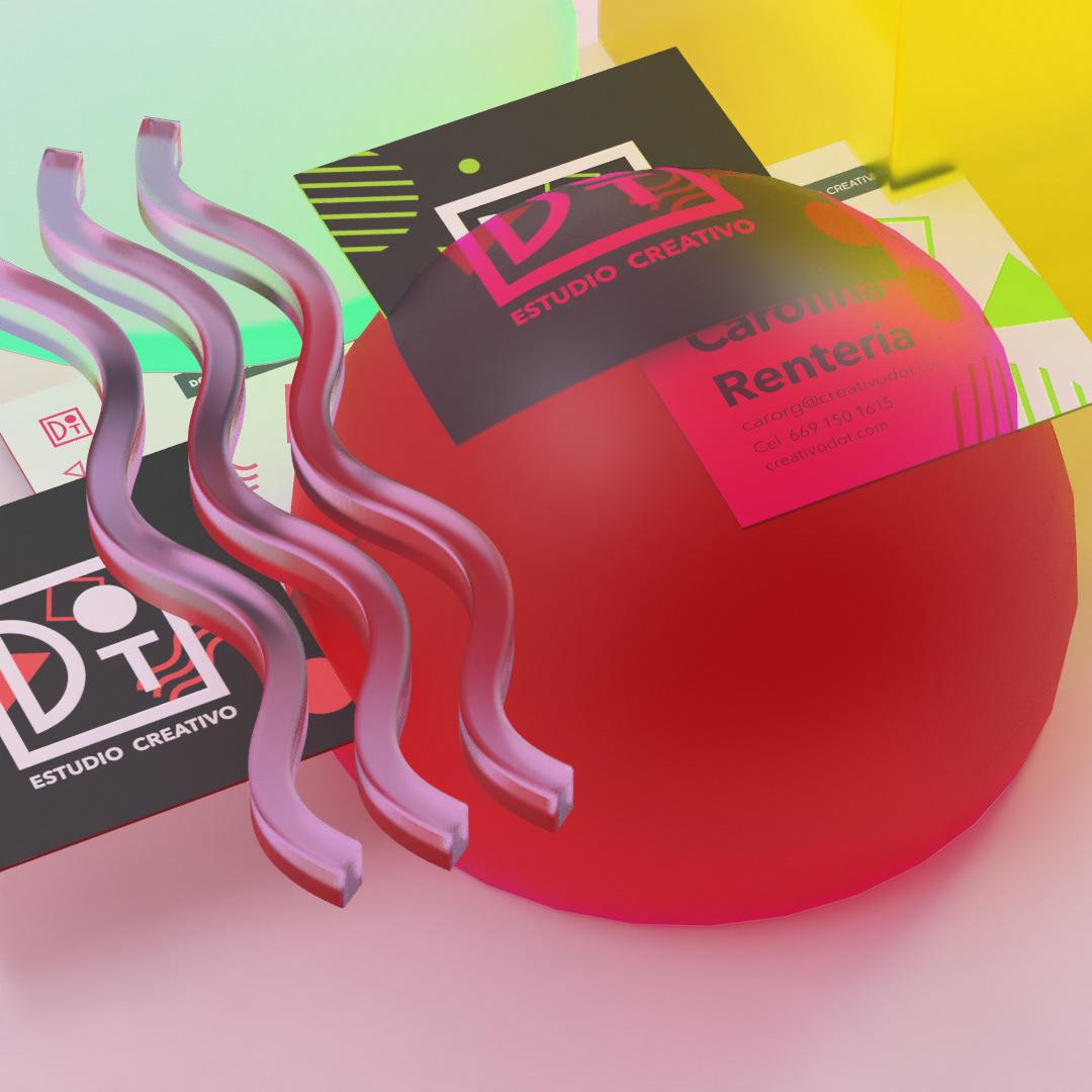 Render 3D branding  colorful 3dart logo brand