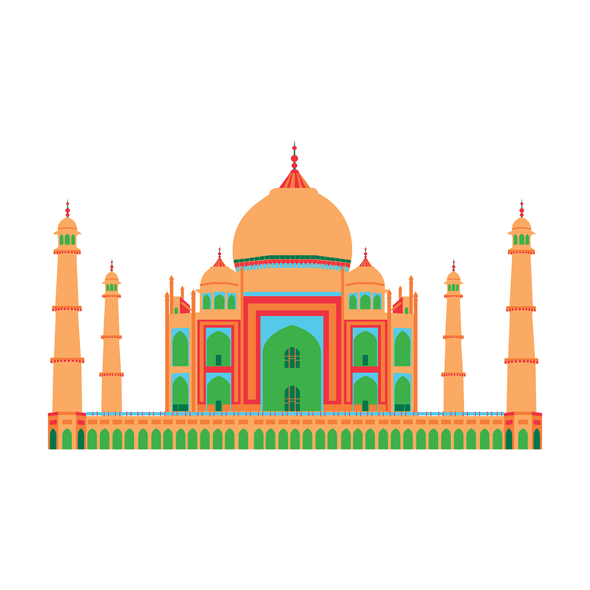 Line Drawing Of Qutub Minar : Monuments of india on behance