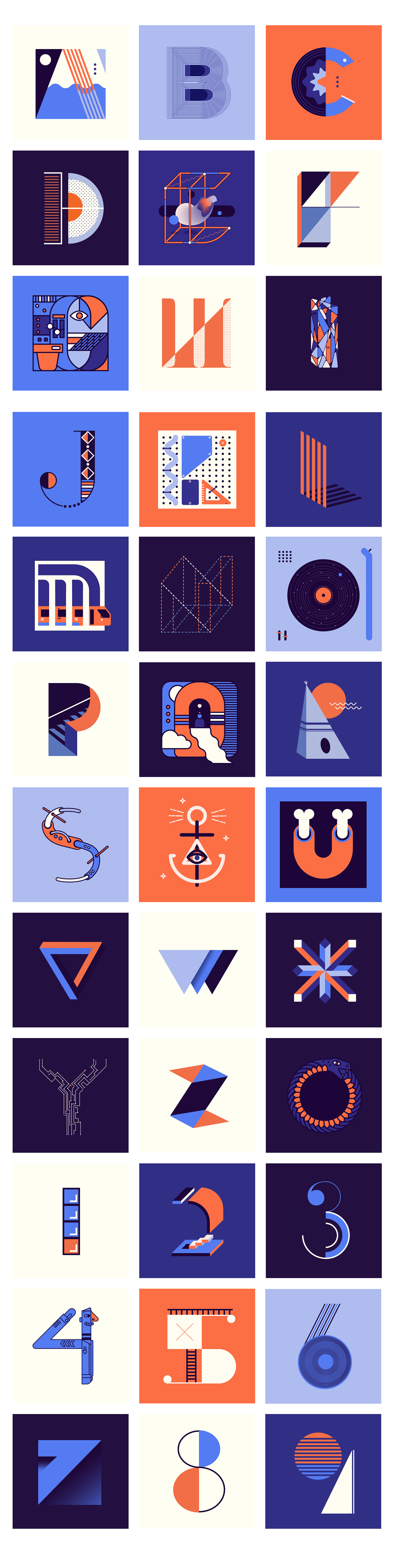 36daysoftype type lettering design letters typographic geometricletters geometry abstracttypography mexico
