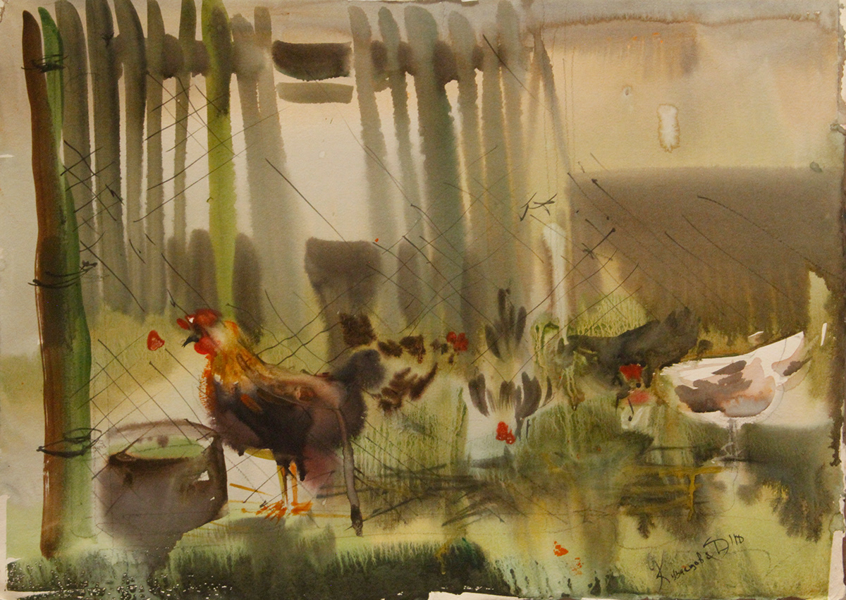 artist COOLART exclusive graphic art russian artist watercolor yakovishinadaria yard акварель графика