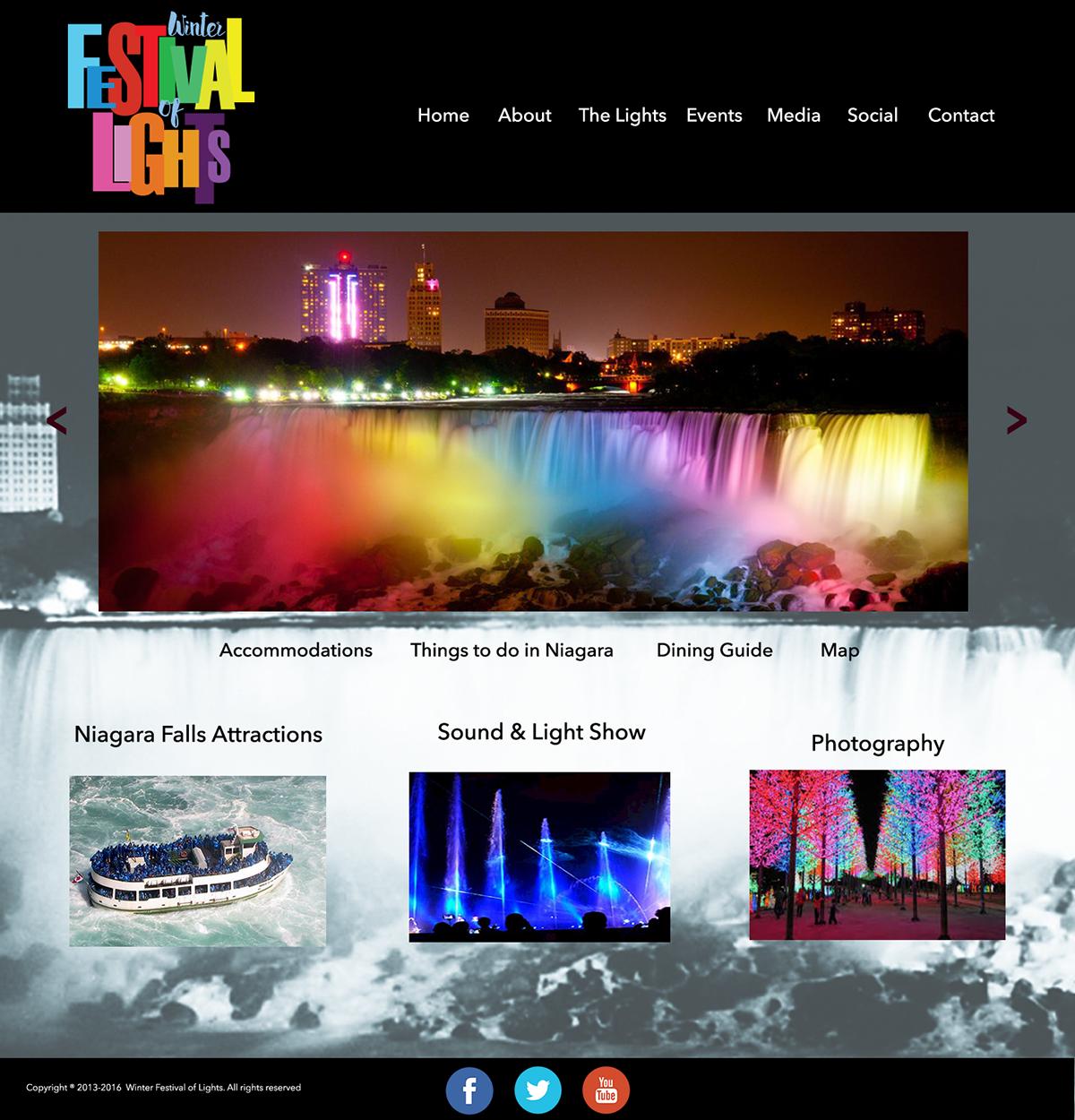 Winter Festival Of Lights Advertising Promotional On Wacom