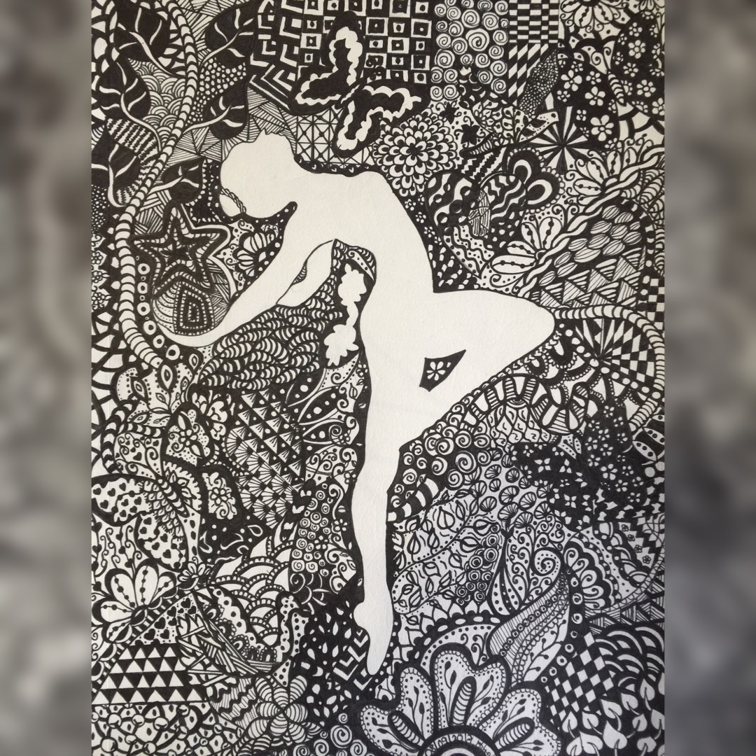 ballerina drawing zentangle art on behance