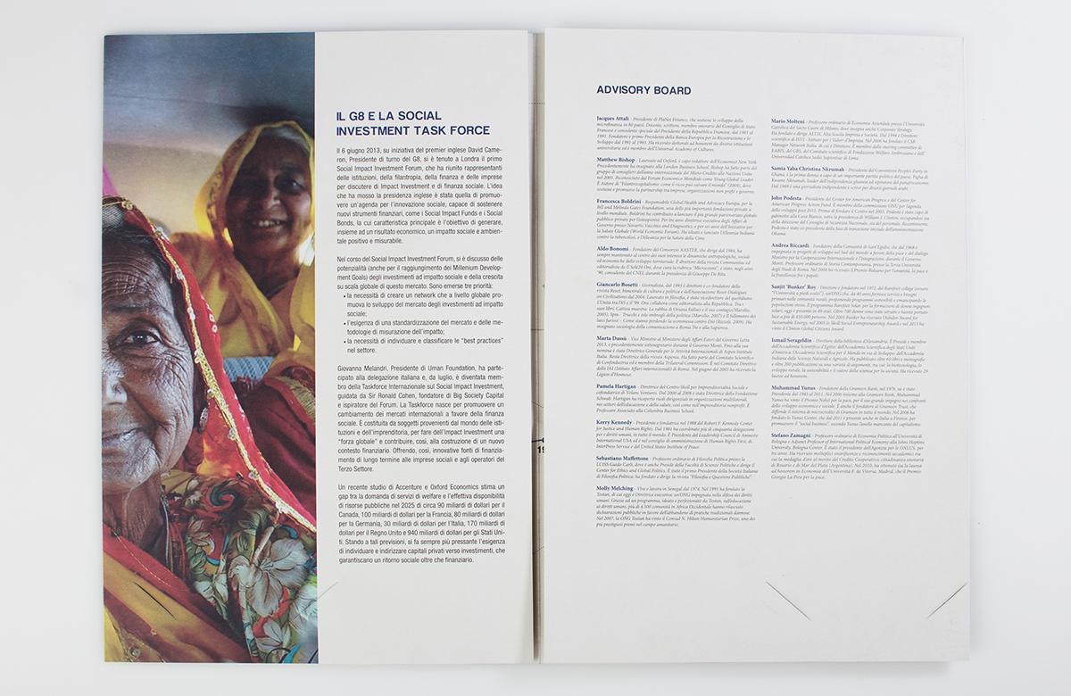 folder brochure Human Foundation Project infographics