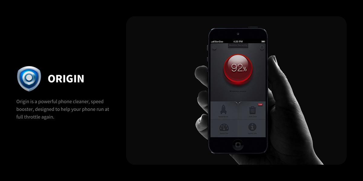 black blue security ios android UI ux dark 暗黑 iphone5