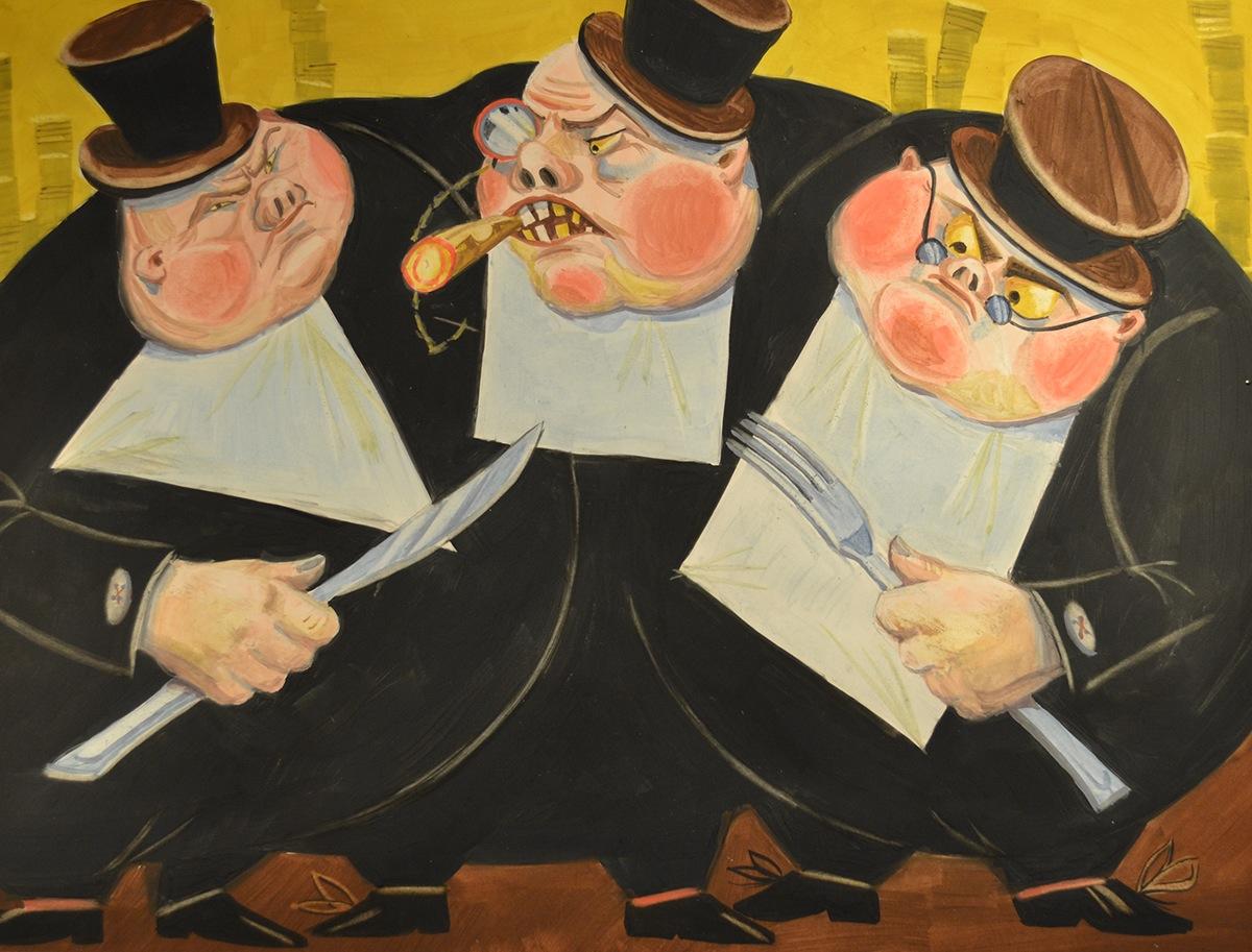 Картинки смешные, картинки три толстяка за столом