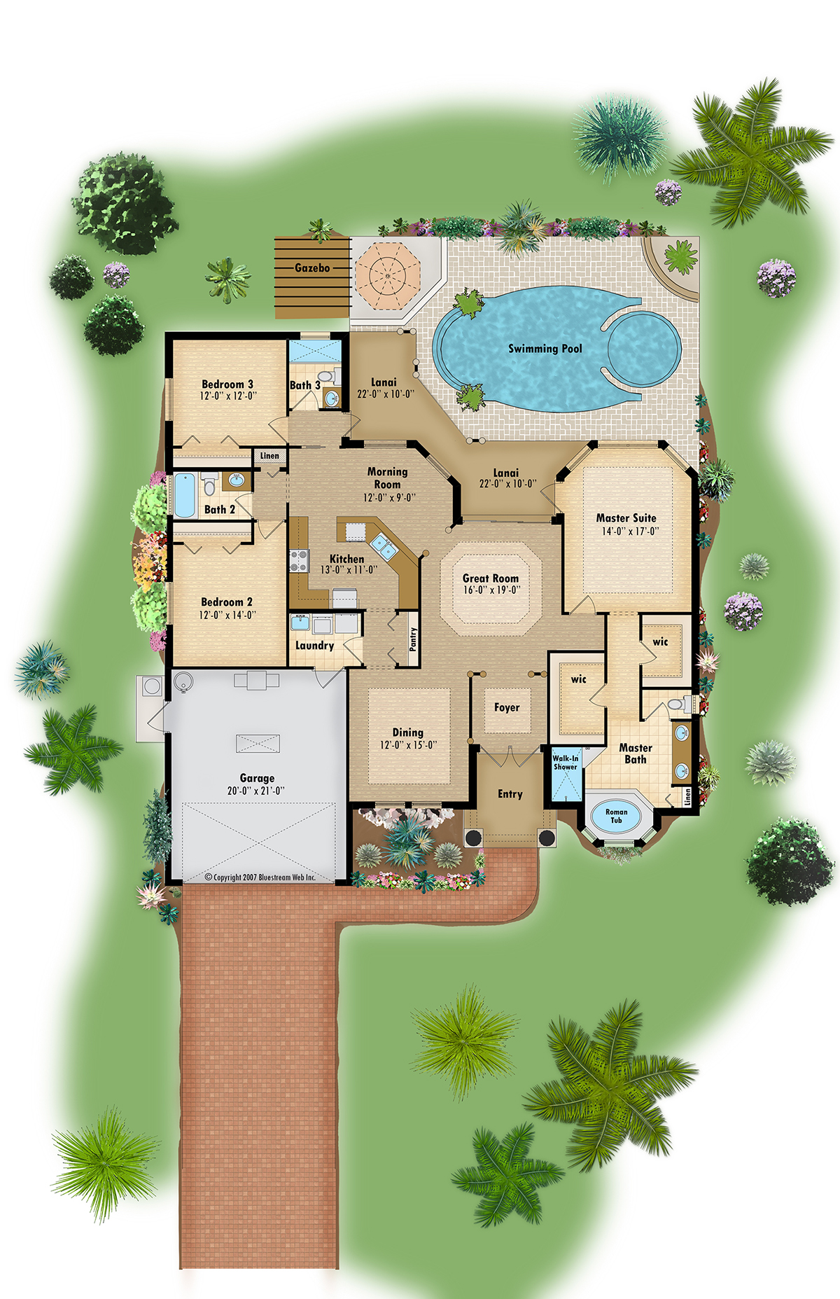 Color floor plan and brochure samples on behance - Colorful house plans ...