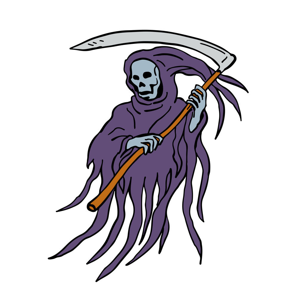 Grim Reaper Drawing On Behance