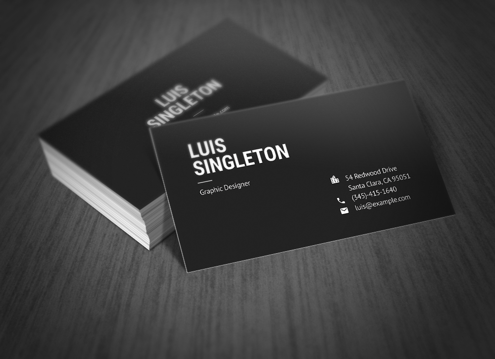 Simple Minimal And Clean Business Card
