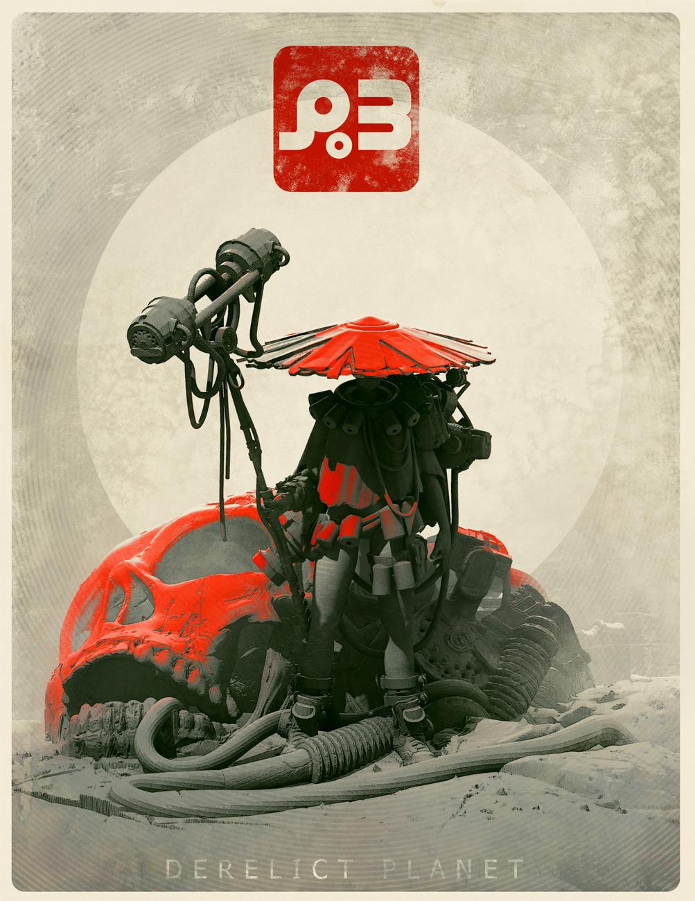 Digital Art  graphic design  design Scifi red art