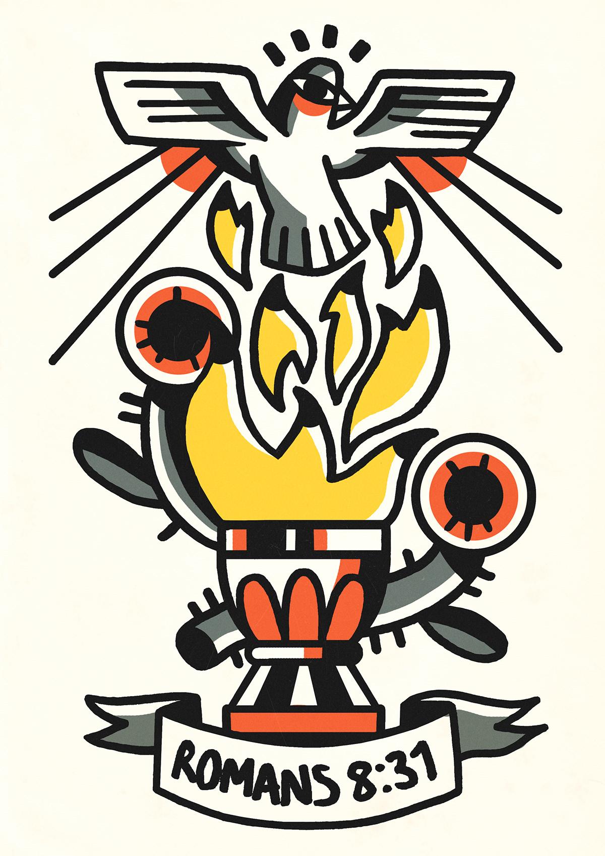 Adobe Portfolio tattoo design ILLUSTRATION  art artwork Drawing