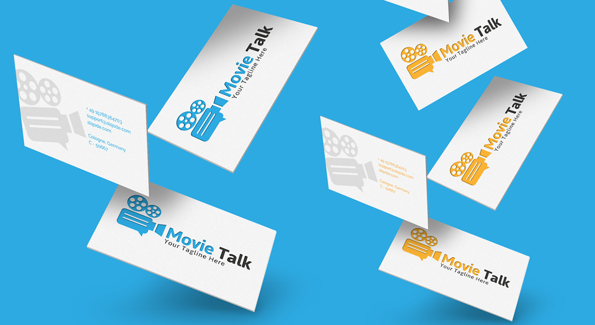 movie talk Cinema logo template modern elegant produktion maker