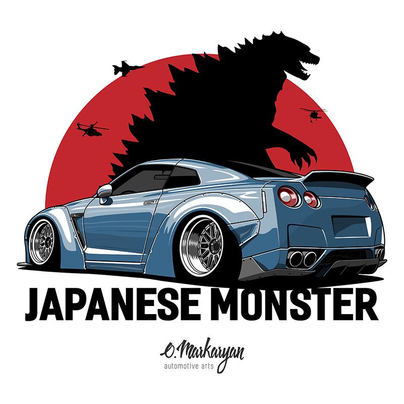 Nissan Logo Wallpaper: Nissan GTR Vector Print On Behance