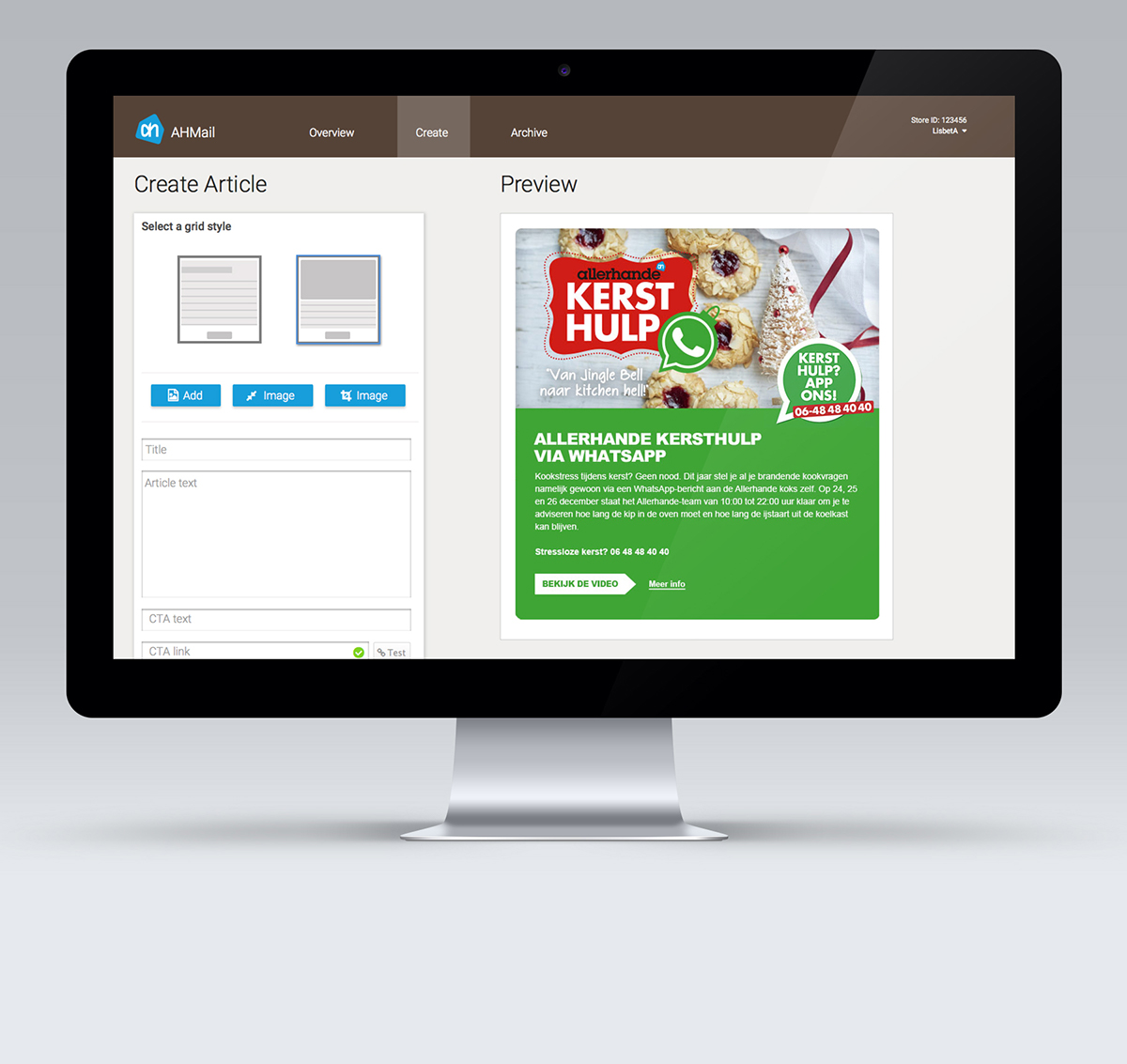 user interface user experience SAAS Email Commercial emailer