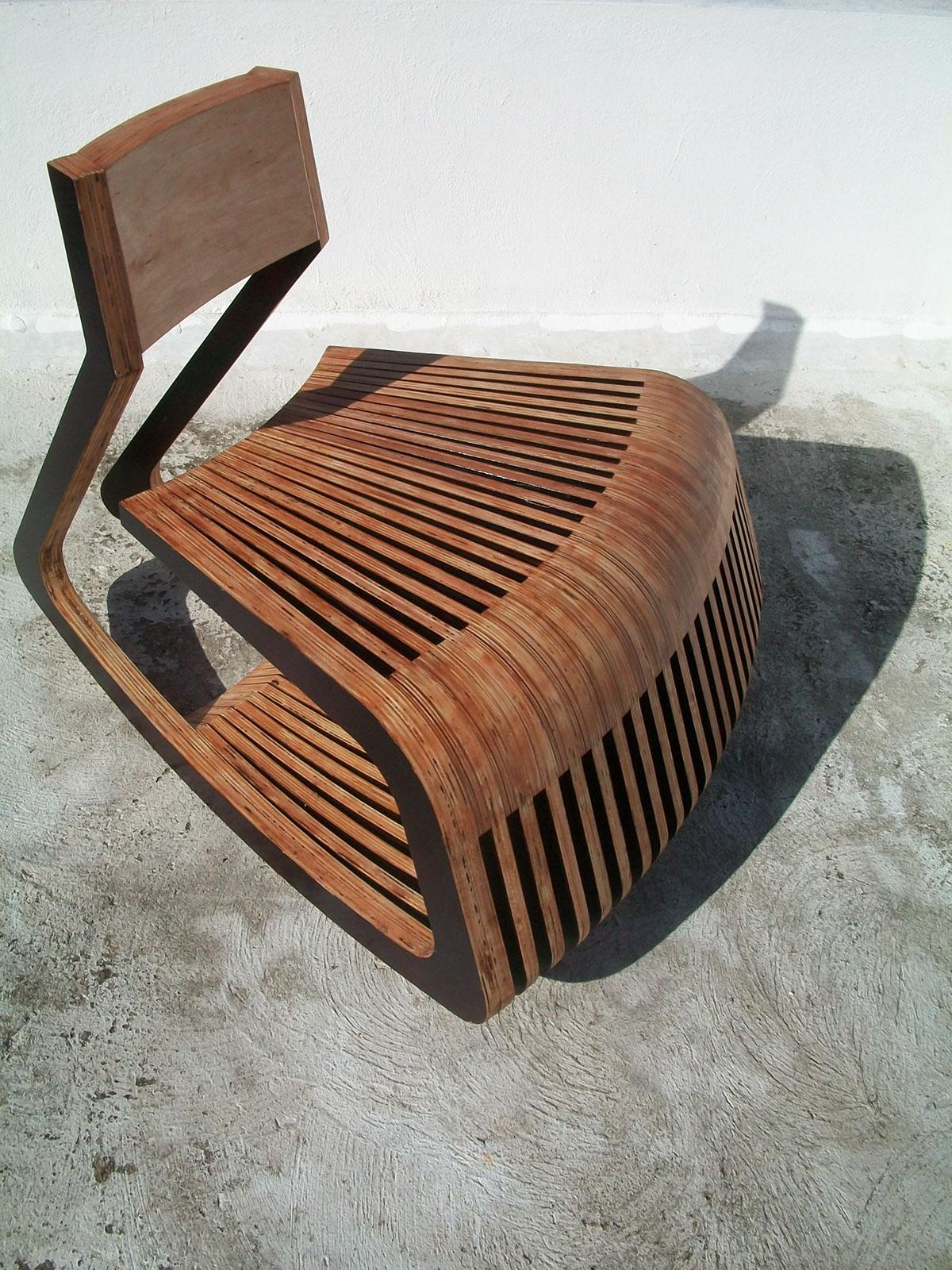 Rocker Caribbean mecedora ROCKER CHAIR wood plywood