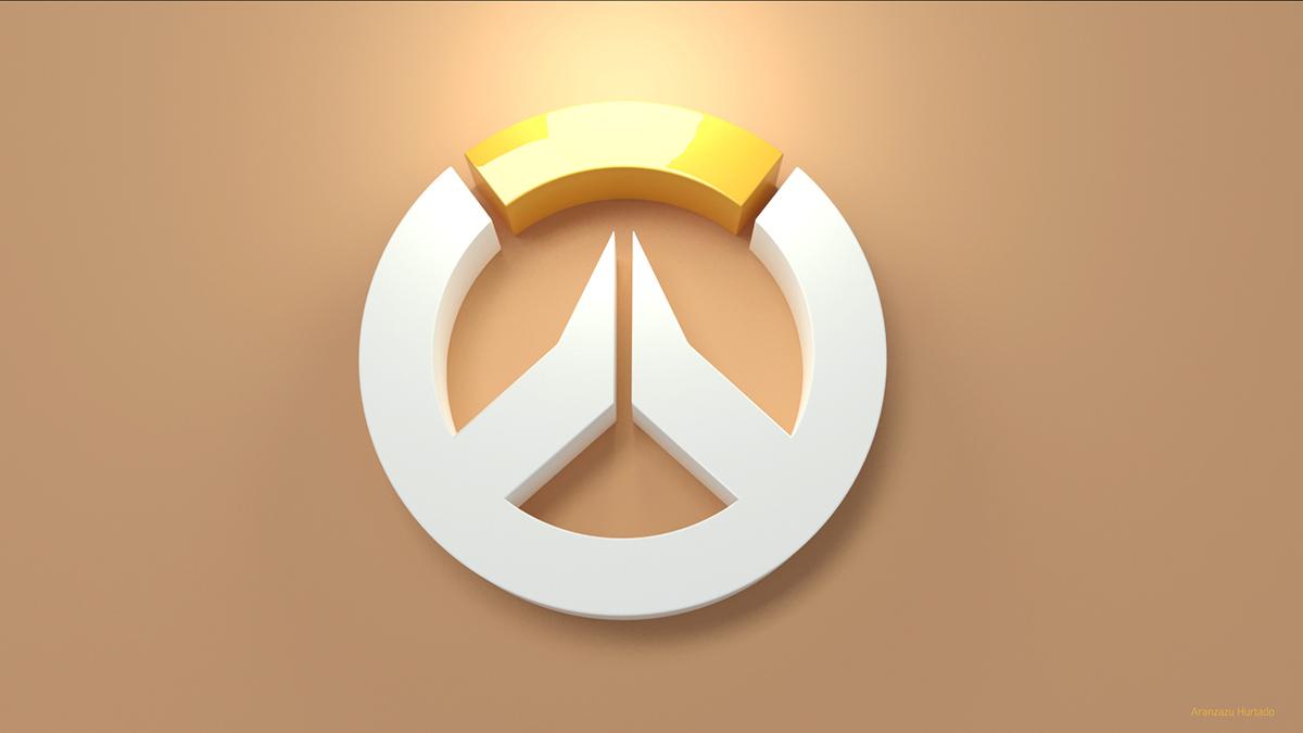 fan art overwatch logo 3d wallpapers on behance
