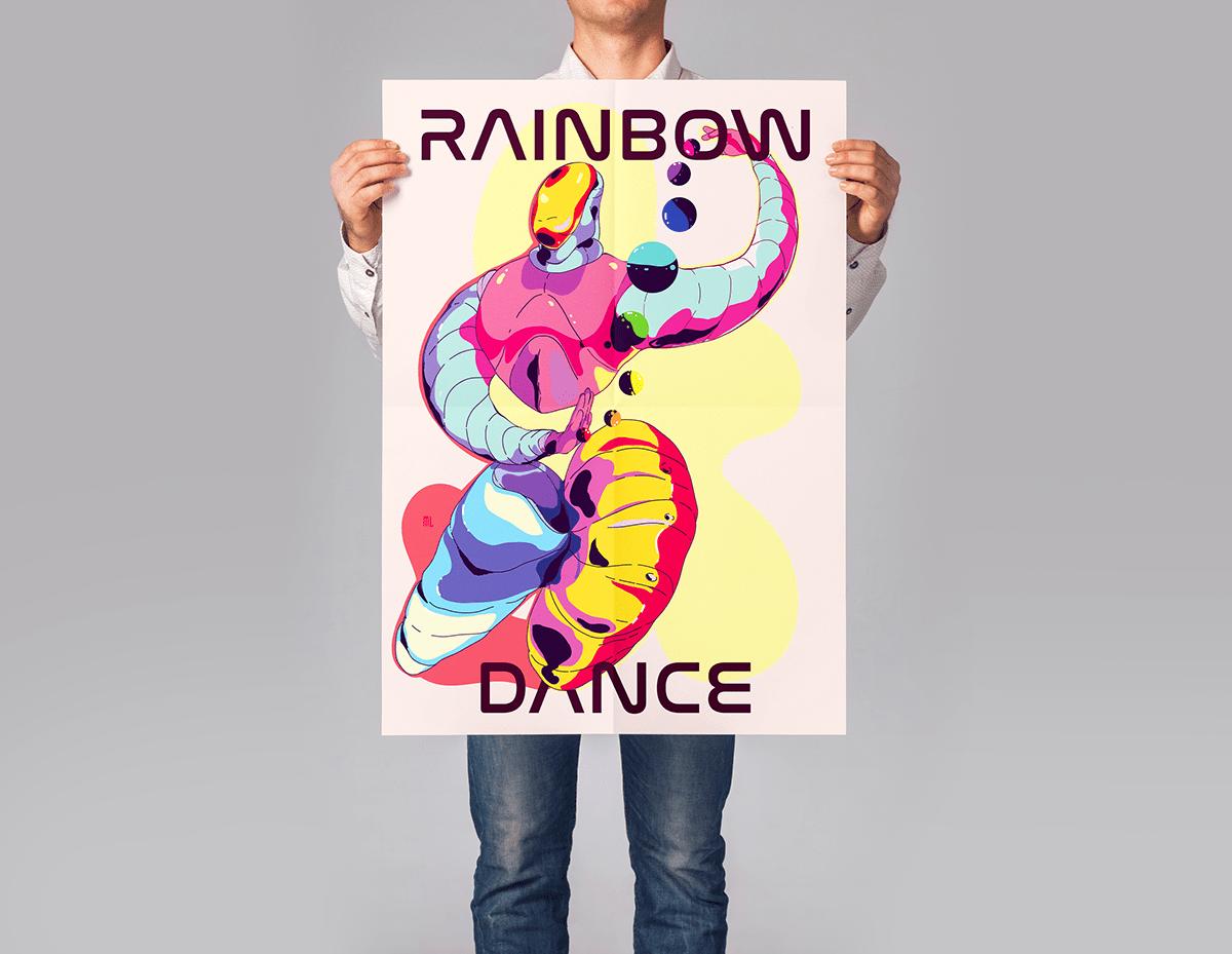adobe fresco color graphic design  ILLUSTRATION  Illustrator Pride Colors rainbow print fresco pride2020
