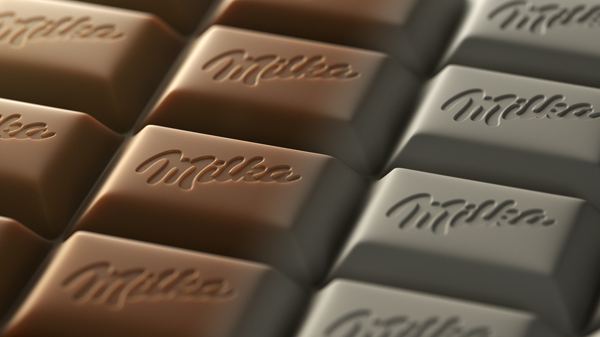 milka chocolate CGI 3D delicious Render Octane Render cinema 4d