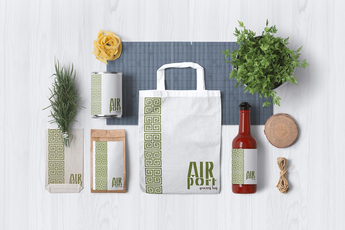 airport brand greek Greece Food  healthy meditterenian product Mockup snacks drinks