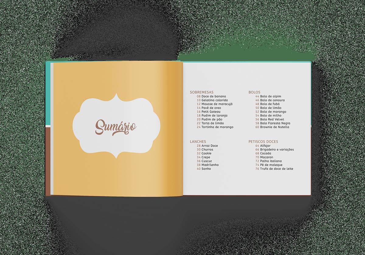 Livro de receitas Livro recipe book book receitas projeto editorial projeto de livro