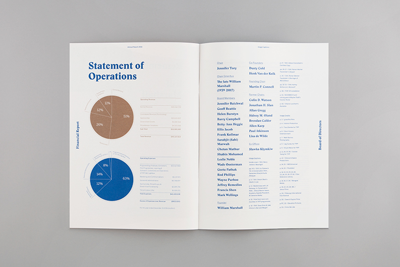 TIFF 2016 Annual Report on Behance