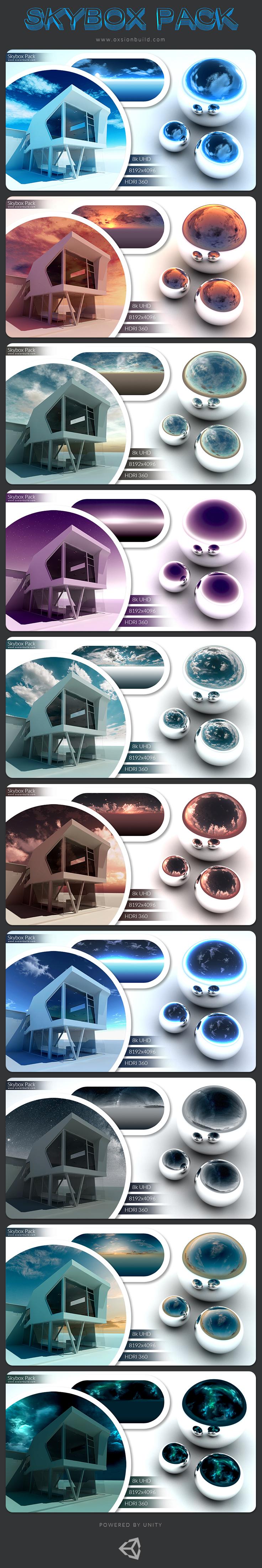 skybox sky box cubemap panorama HDRI 360* environment azure