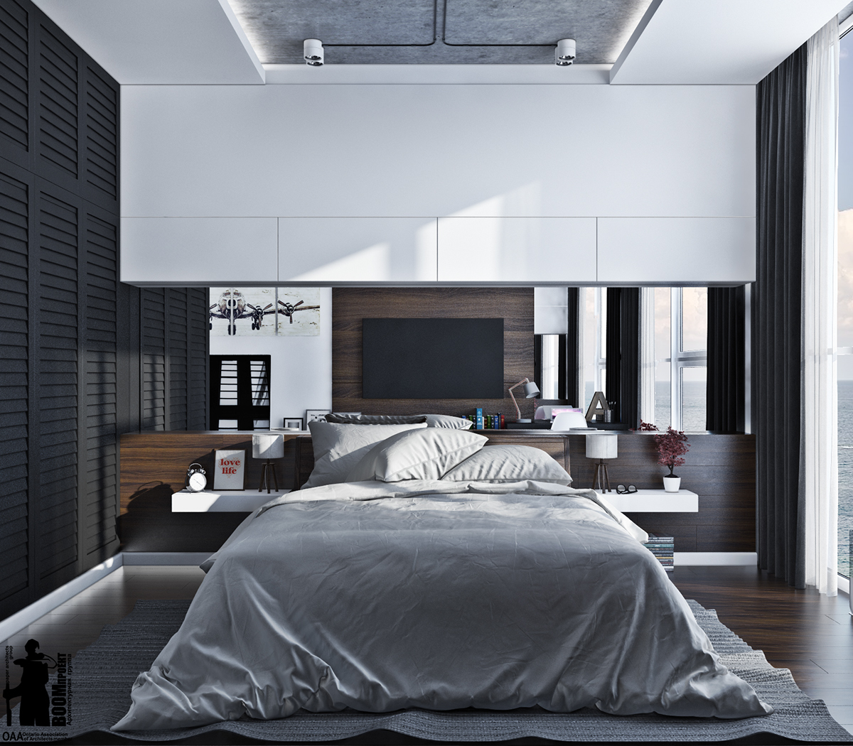 Interior design bedroom on behance for Modern men bedroom designs