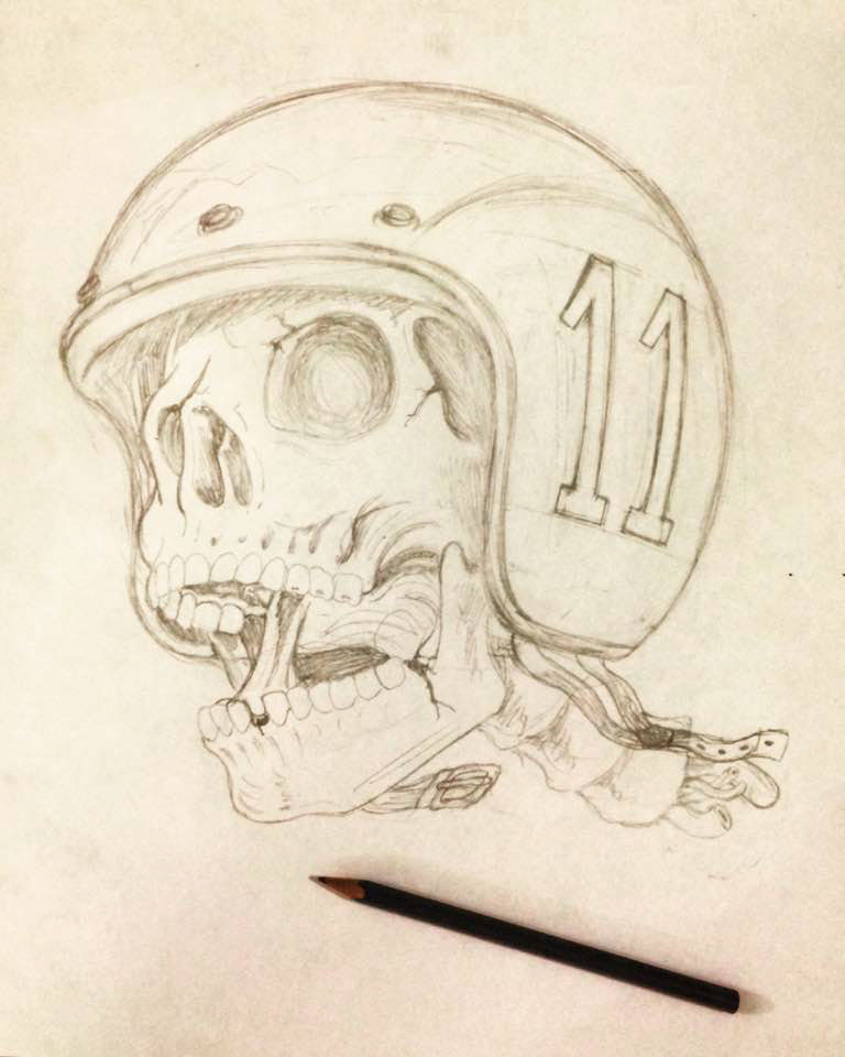 Skull Shirt t-shirt skull illustration Helmet motorcycle Cars diye artist diye illustration diye design