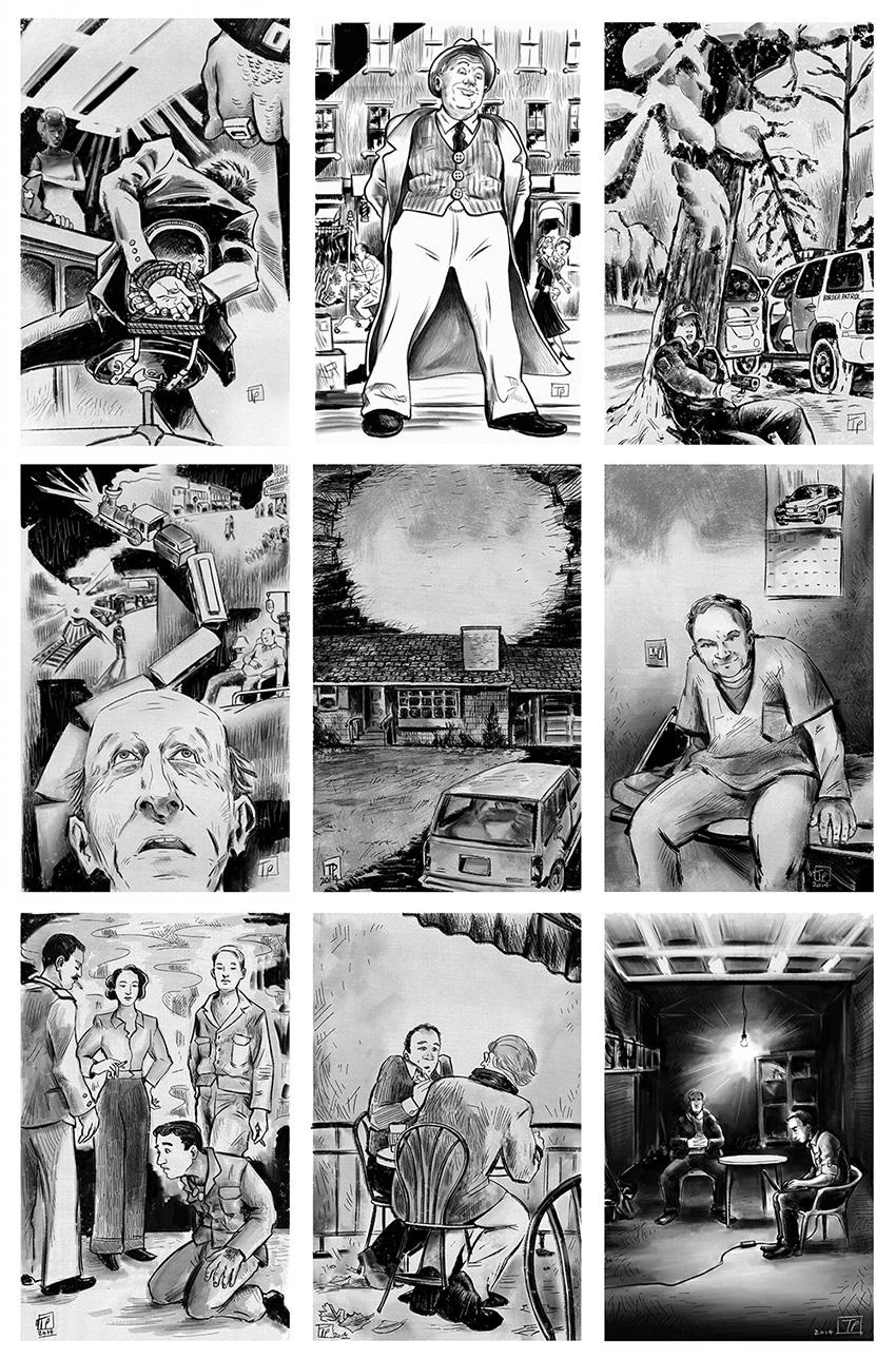 Editorial Illustration Magazine illustration black and white