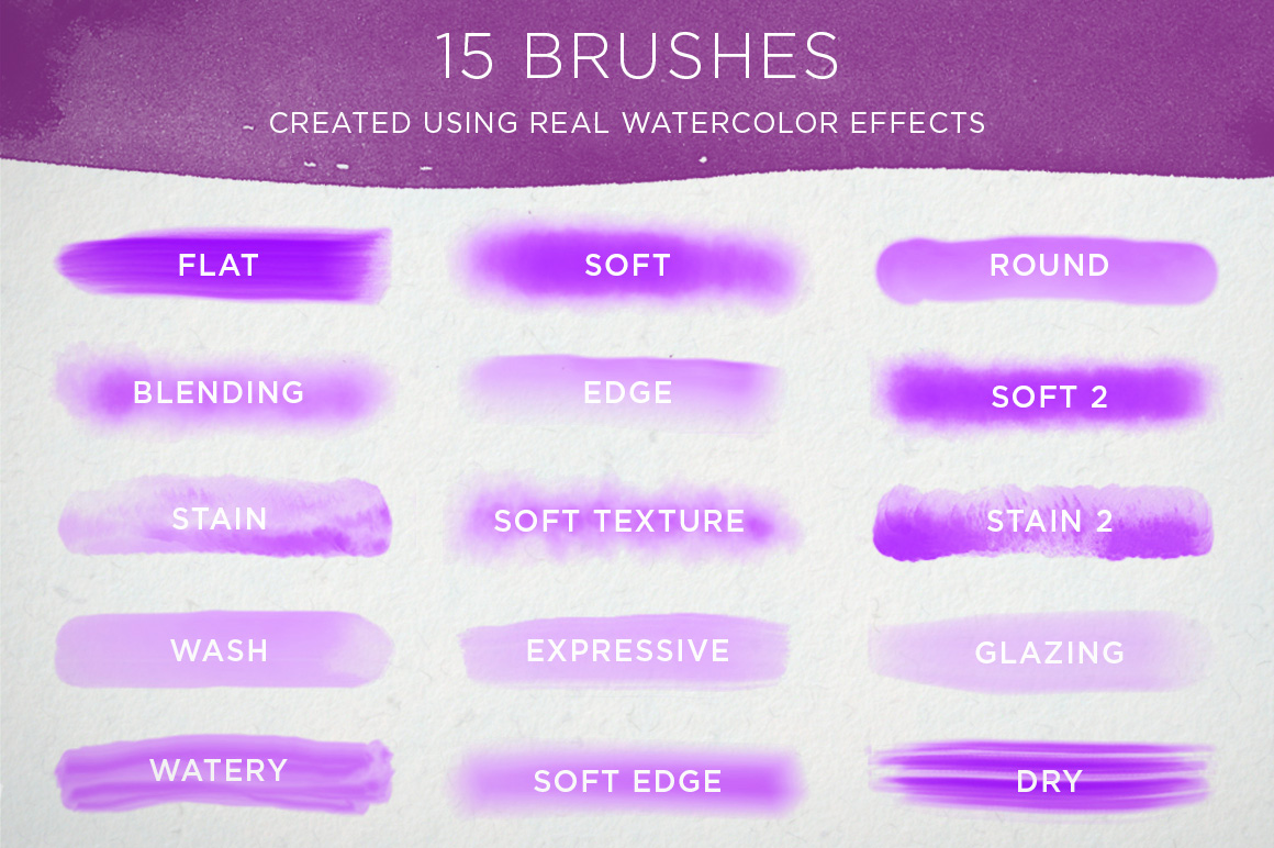 Procreate Watercolor Brushes for the iPad on Behance