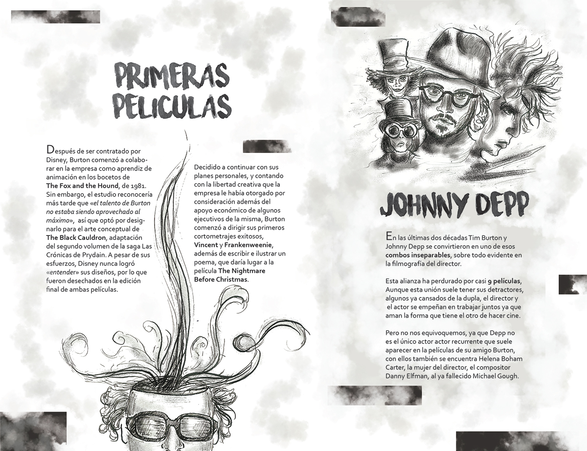 Diseño Editorial Suplemento De Tim Burton On Wacom Gallery
