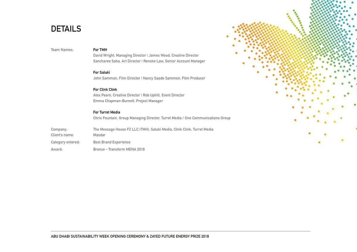 OpeningCeremony Abu Dhabi Sustainability Week/ZFEP 2018 on