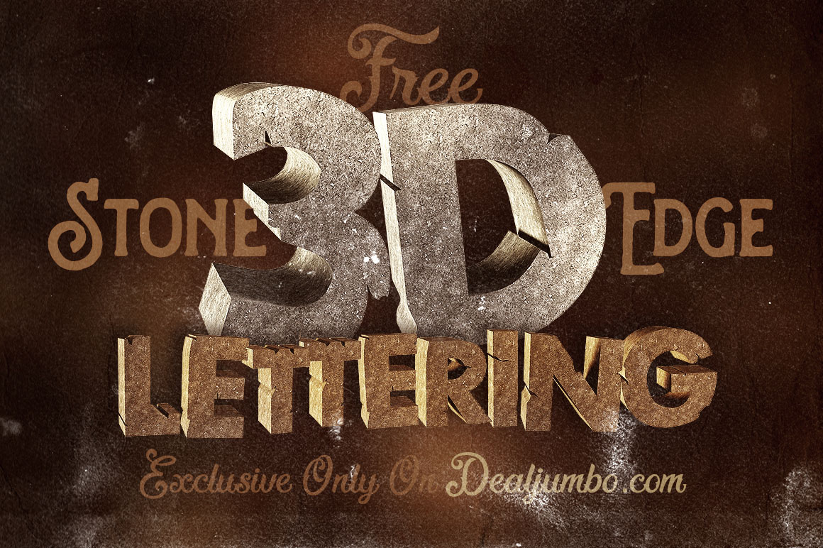 Download Free 3D Stone Edge Lettering Pack on Behance