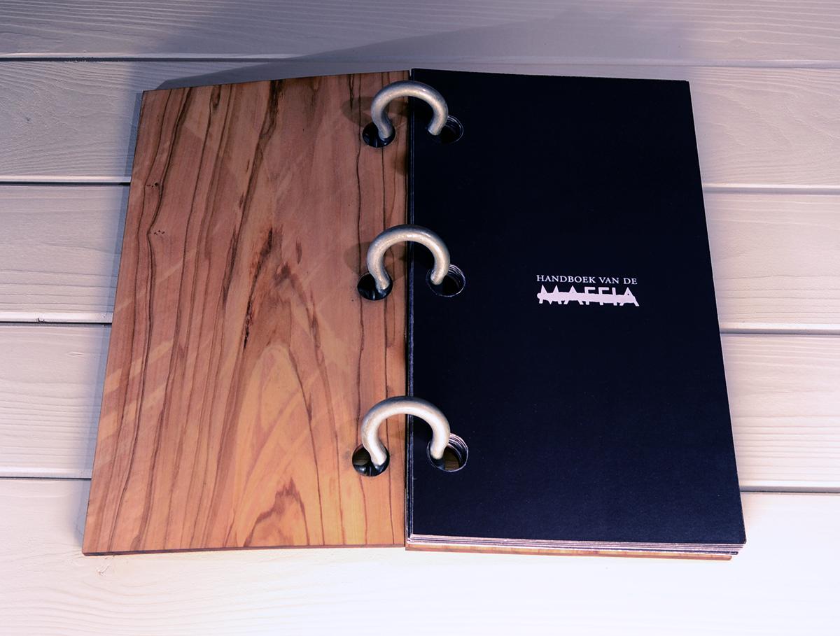 maffia handboek mafia manual wood olive black cosa nostra