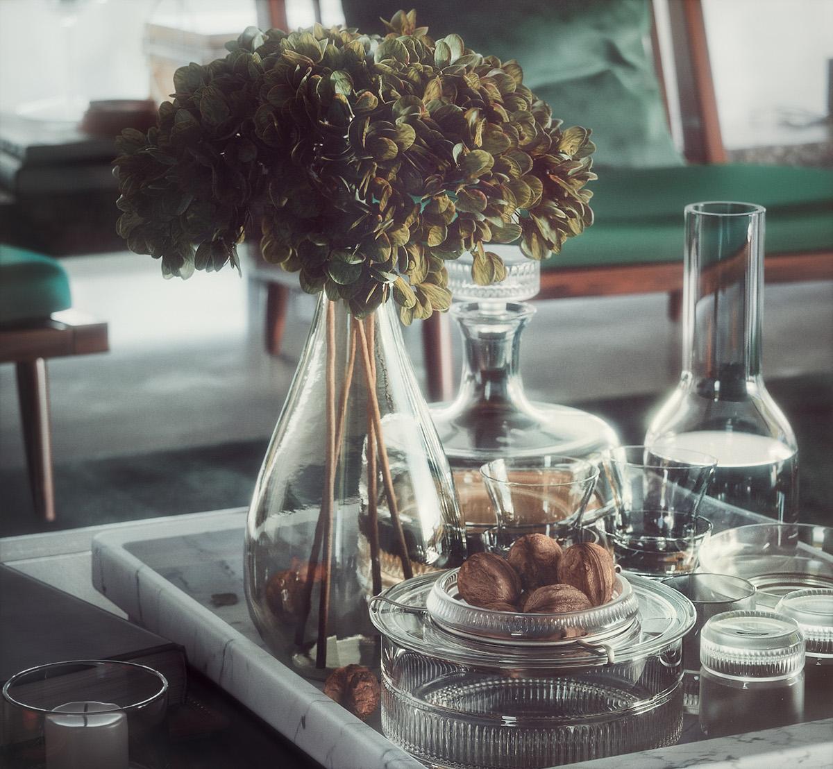 3D,plants,Interior plants,Scandinavian,olive,eucalyptus,modern