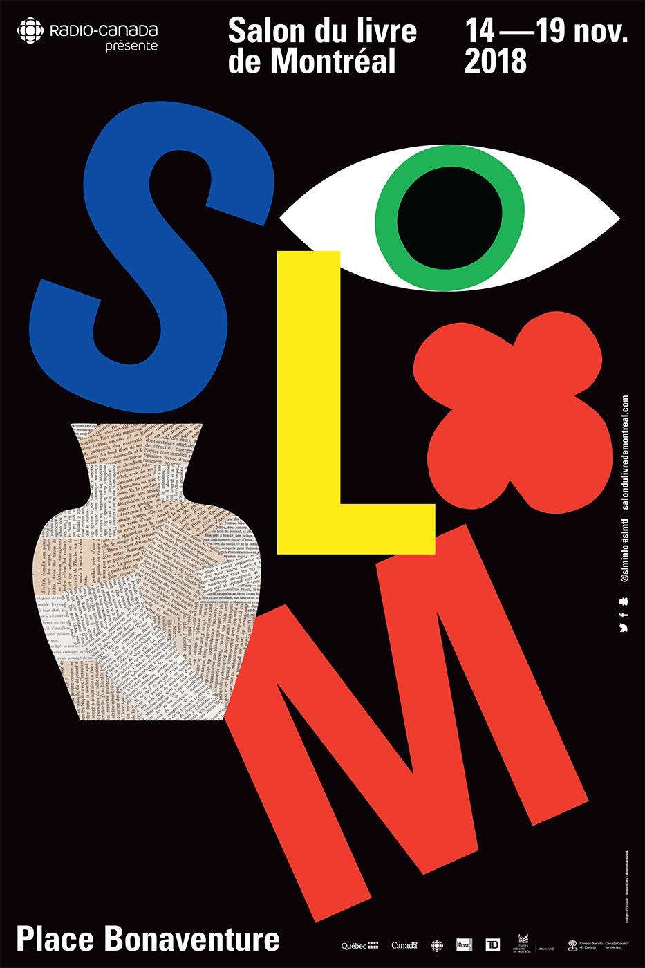 Montreal Melanie Lambrick poster midcentury modern graphic Playful Quebec