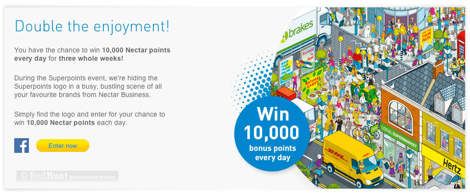 nectar business superpoints competition illustration on