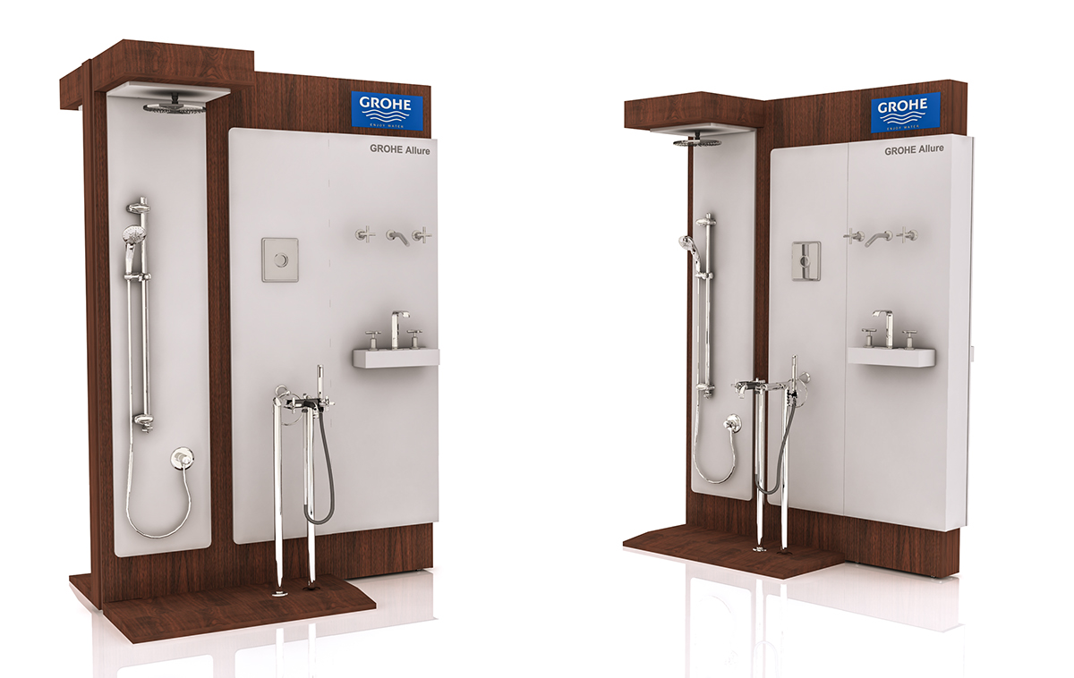 Grohe - showroom displays on Behance