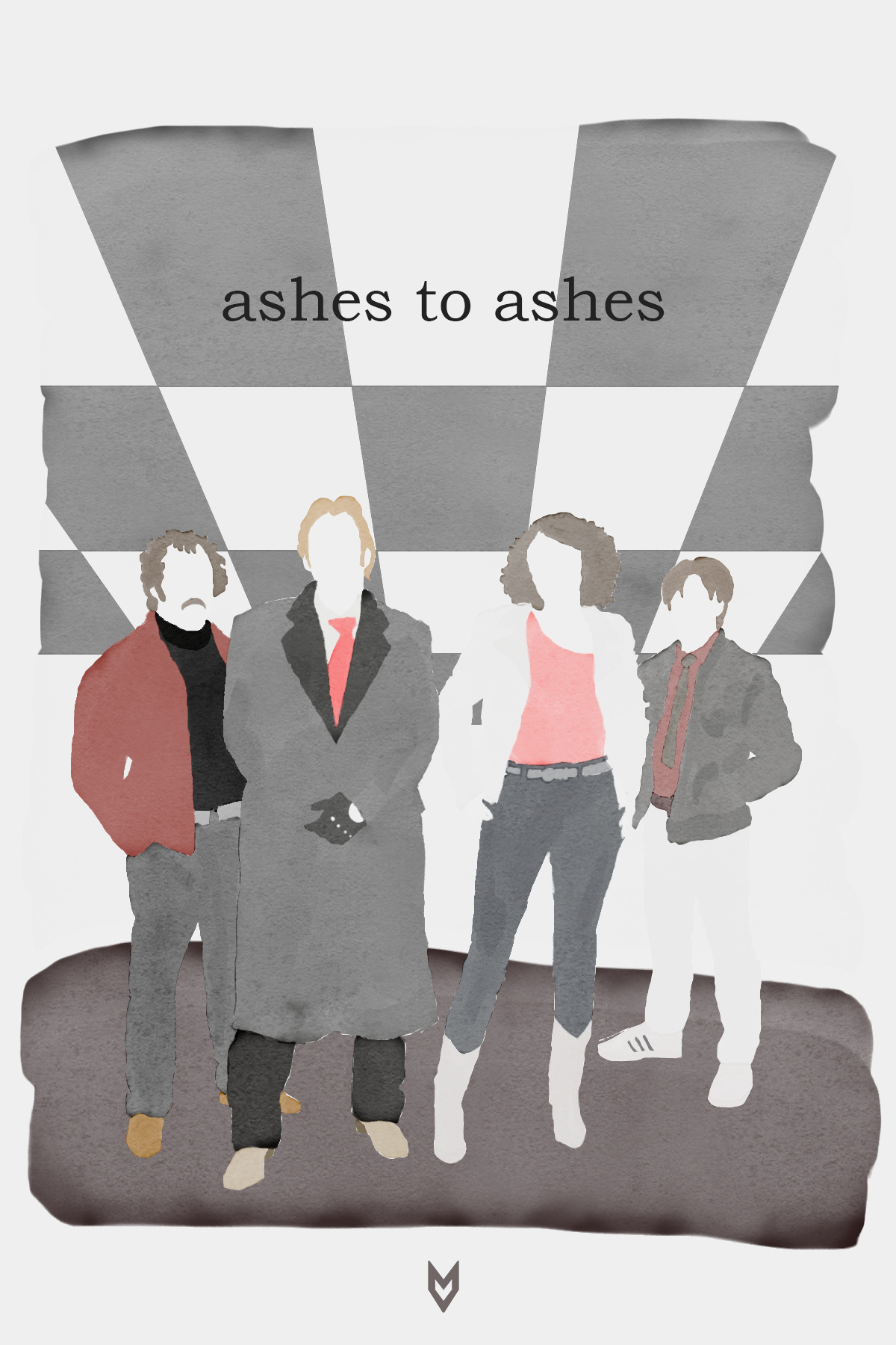ashes to ashes BBC cartel ILLUSTRATION  ilustracion television tv poster tv show