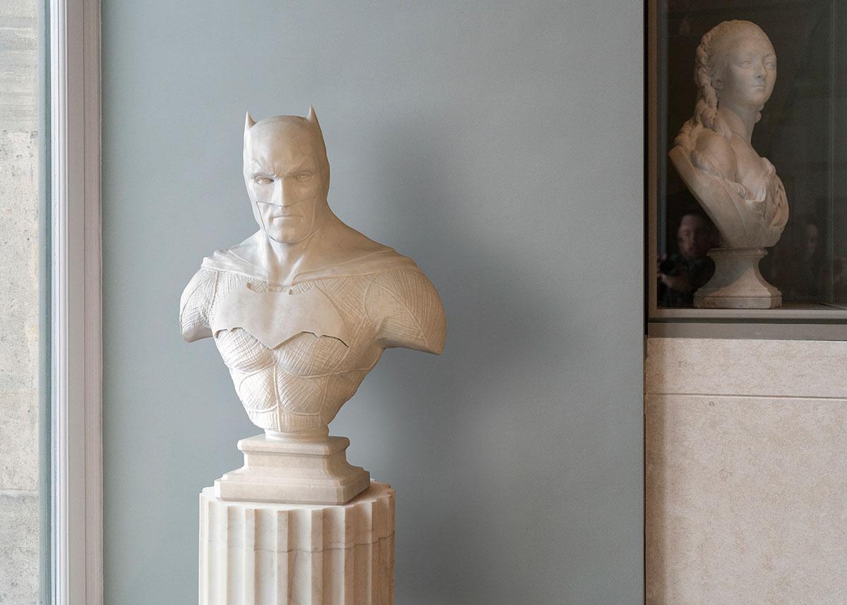 art sculpture heroes batman superman Spider Man marvel Photographie