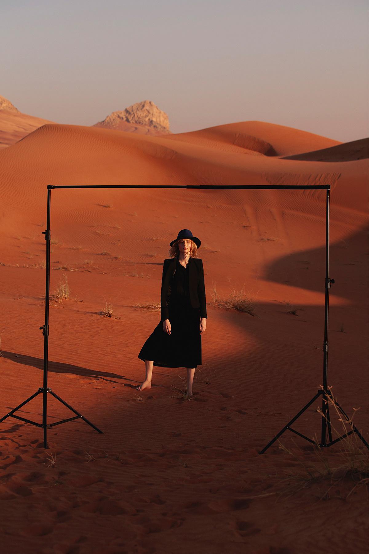desert editorial UAE dubai chernih julia Fashion  model photographer